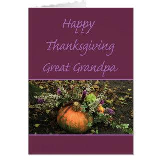 Great Grandpa Thanksgiving Card