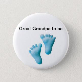 Great Grandpa to be 6 Cm Round Badge