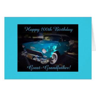 Great-grandpa's 100th birthday greeting card