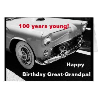 Great-Grandpa's vintage car- 100th birthday Greeting Card