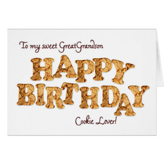 Great Grandson, a Birthday card for a cookie lover