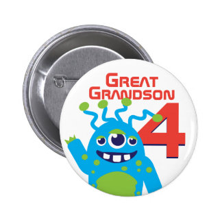 Great Grandson alien name age 4 button
