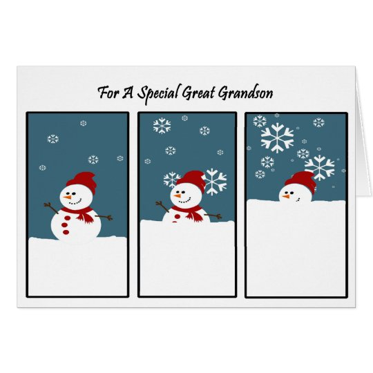 Great Grandson Blizzard Christmas Card