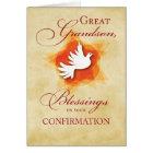 Great Grandson, Confirmation Congratulations Dove Card