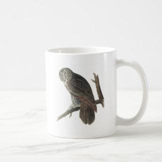 Great Gray Owl by Audubon Basic White Mug