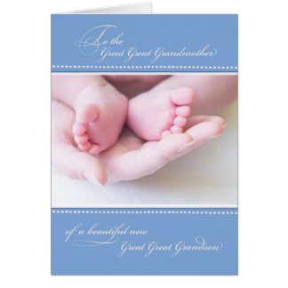 Great Great Grandmother/New Great Great Grandson Card