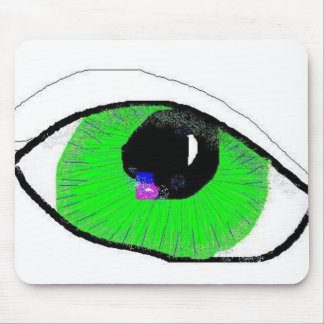 Great Green eye Mouse Pad