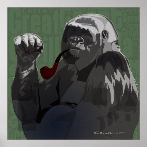 Great Green Gorilla Poster