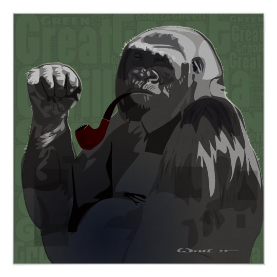 Great Green Gorilla Poster