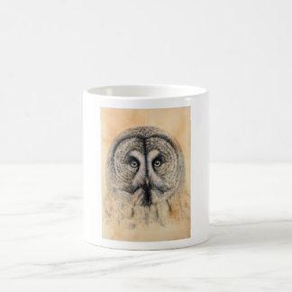 Great Grey Owl design by Schukina g041 Basic White Mug