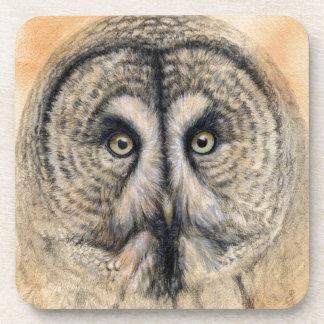 Great Grey Owl design by Schukina g041 Dessous-de-verre