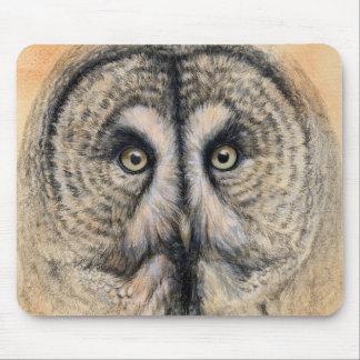 Great Grey Owl design by Schukina g041 Tapis De Souris