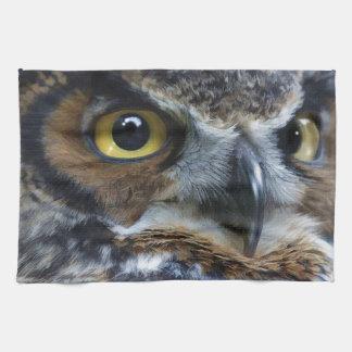 Great Grey Owl Eyes Wildlife Tea-Towel Towels