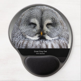 Great Grey Owl Gel Mouse Pad