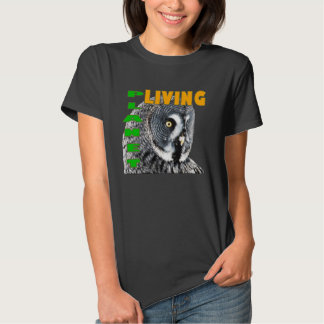 Great Grey Owl Living Planet T-shirts