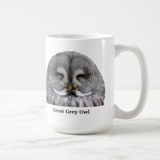Great Grey Owl Basic White Mug