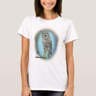 Great Grey owl - Original Art by Marsha Friedman T-Shirt