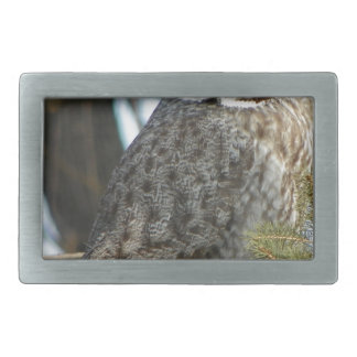 Great Grey Owl Photo Gift Belt Buckles
