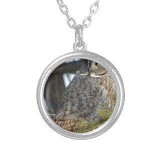 Great Grey Owl Photo Gift Round Pendant Necklace