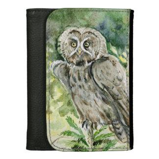 Great grey owl wallet for women