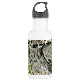 Great Grey Owl watercolor 532 Ml Water Bottle