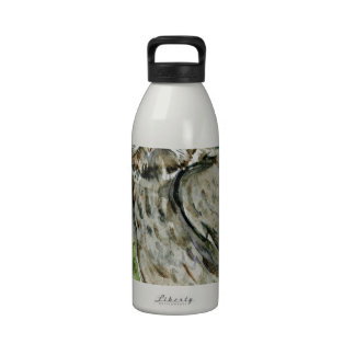 Great Grey Owl watercolor Drinking Bottles