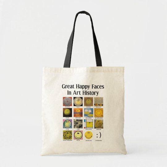 Great Happy Faces In Art History Tote Bag