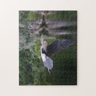Great Heron in flight Jigsaw Puzzle