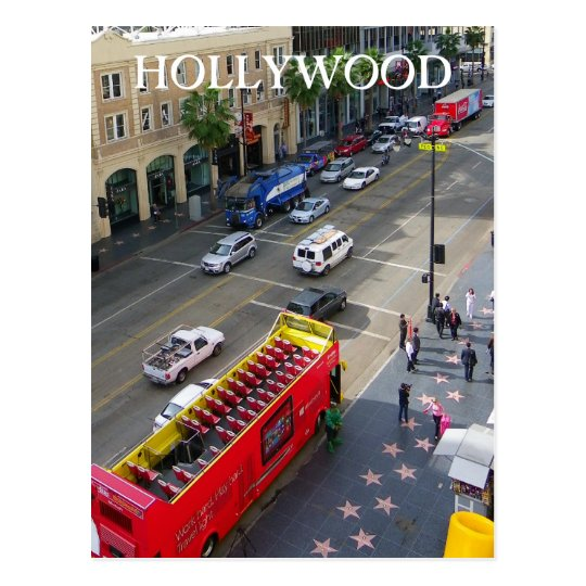 Great Hollywood Boulevard Postcard! Postcard