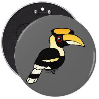 Great Hornbill Button