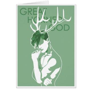 Great Horned God - Worship Old Gods Card