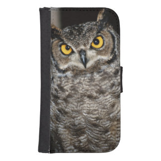 Great Horned Owl  2 Samsung S4 Wallet Case