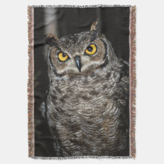 Great Horned Owl  2 Throw Blanket