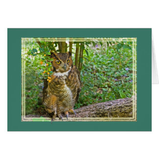 Great Horned Owl All-Purpose Greeting Card