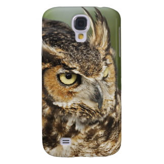 Great Horned Owl, Bubo virginianus, Captive Galaxy S4 Case