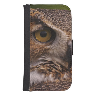 Great Horned Owl, Bubo virginianus Samsung S4 Wallet Case