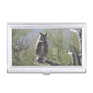 Great Horned Owl Business Card Holder