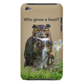 Great Horned Owl Customizable iPod Case-Mate Cases