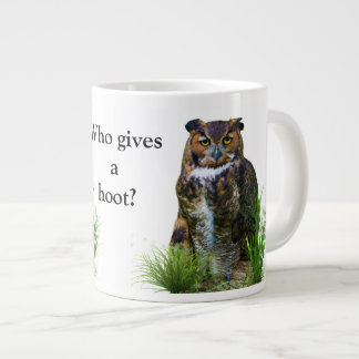 Great Horned Owl Customizable Large Coffee Mug