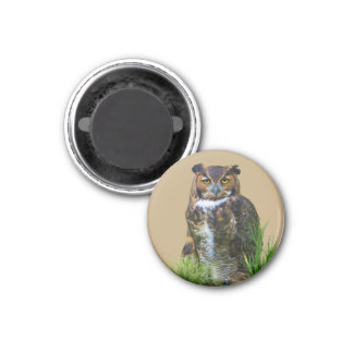Great Horned Owl Customizable Magnet