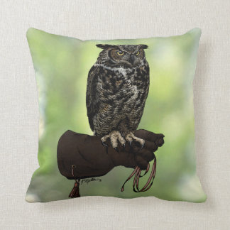 Great Horned Owl on Glove Cushion