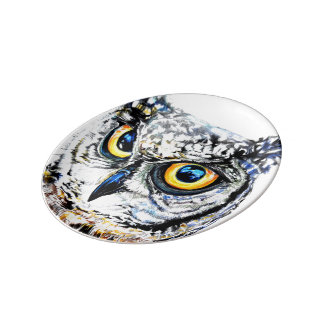 Great Horned Owl plate