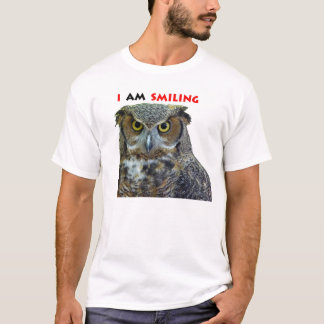 Great horned owl smiling T-Shirt