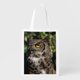 great horned owl, Stix varia, in the Anchorage Reusable Grocery Bag