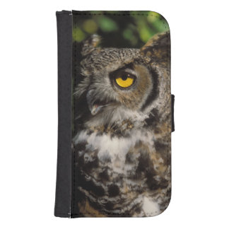 great horned owl, Stix varia, in the Anchorage Samsung S4 Wallet Case