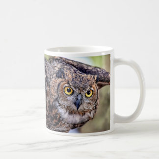Great Horned Owl Taking Flight Coffee Mug