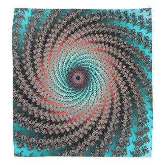 Great Hypnotic Swirl - black, bordeaux, turquoise Head Kerchiefs