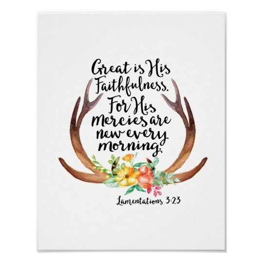 Great is His Faithfulness His Mercies are New