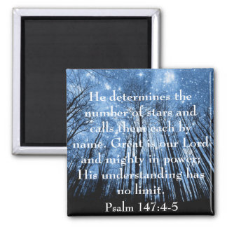 Great is our Lord bible verse Psalms Square Magnet