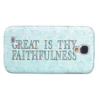 Great Is Thy Faithfulness Fancy Floral Alphabet Galaxy S4 Case